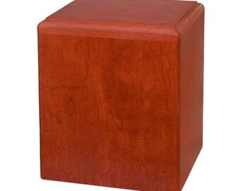 Cherry Madison Wood Cremation Urn