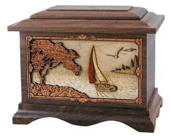 Walnut Soft Breezes Ambassador Wood Cremation Urn