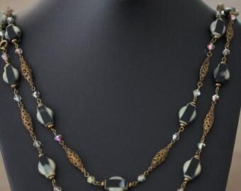 Fabulous antique flapper necklace!!