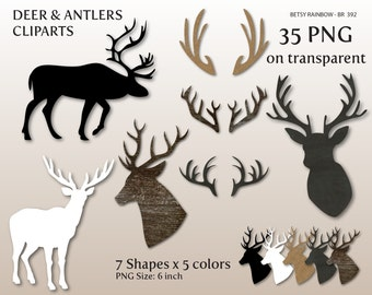 Deer Antler cliparts PNG, dear clip art, antler clip art, Christmas clipart - BR 392