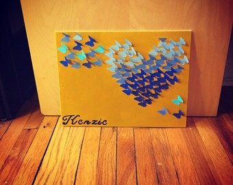 Butterfly Canvas 3D