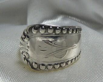 Vintage sterling spoon ring,