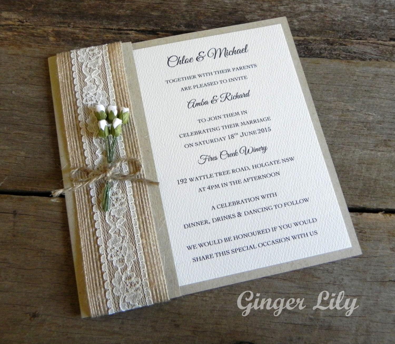 handmade vintage style wedding invitations - 28 images - vintage ...