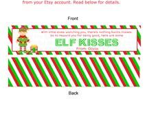 Printable elf kisses bag toppers printable christmas tags great