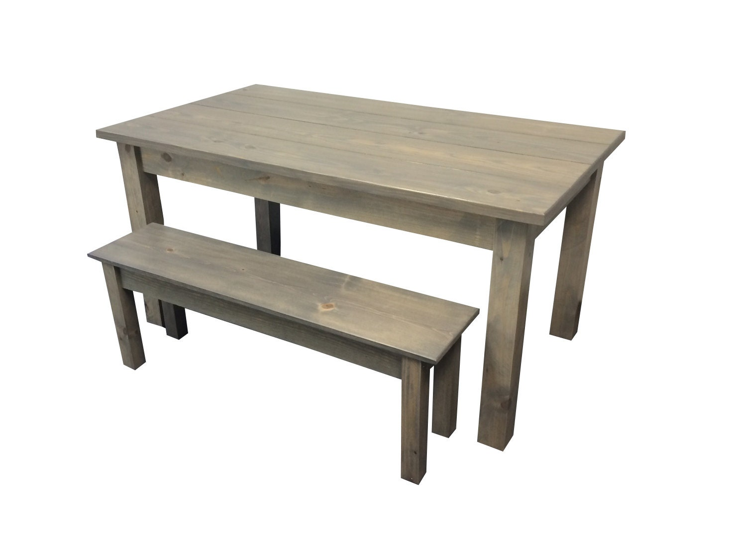 Driftwood Grey Rustic Farmhouse Table