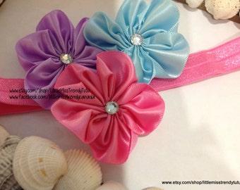 Easter Headband, Pink Purple Blue Easter Headband, Pastel Headband, Easter, Photo Prop Easter Headband, Newborn Girls Easter Headband
