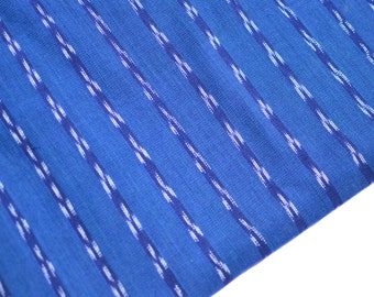 Blue Handmade Fabric (#35) from Guatemala - 100% Cotton - Sold by yard