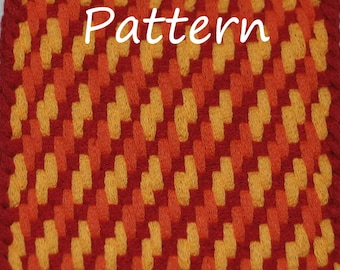 Pattern Instructions for Twill and Zigzag Woven Potholders