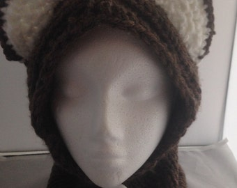 Childs hooded cowl