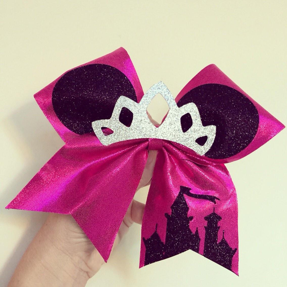 Princess minnie mouse glitter tiara cheer bow disney castle - Princesse minnie ...