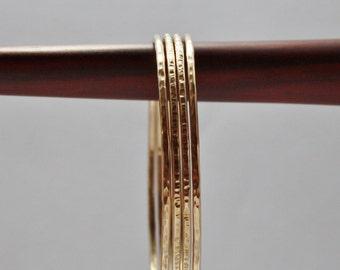 Bronze Bangle Bracelet, Hammered Bronze Bangles, You Choose Quantity, Bronze Bangles