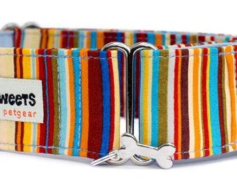 """Noddy & Sweets Adjustable Martingale Collar [1"""", 1.5"""", 2"""" Brighton Rock Blue]"""