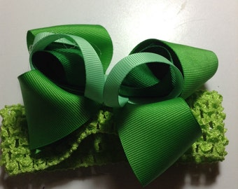 Green Elastic Headband