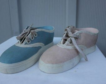 Vintage Handmade Ceramic Sneakers # 3208