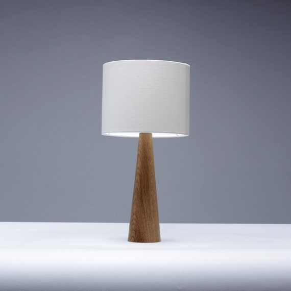 Handmade solid oak wood bedside table lamp by homeandkitchen - Handmade table lamp ...