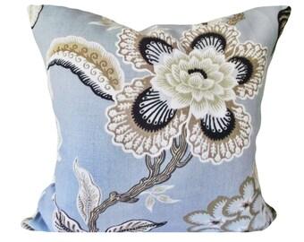 Schumacher Hothouse Flowers Celerie Kemble Throw Pillow Cover - Toss Pillow - Solid Linen Back - 12x20, 14x24, 16x16, 18x18, 20x20, 22x22