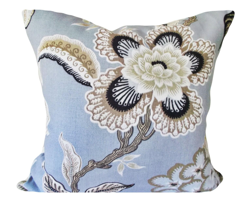 Schumacher Hothouse Flowers Mineral Decorative by PillowTimeGirls