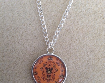 Halloween Haunted Mansion Wallpaper Necklace