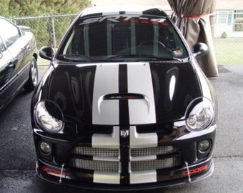"Dodge Neon 8"" Vinyl Rally Stripes Racing Stripe Kit - Multiple Colors Available"
