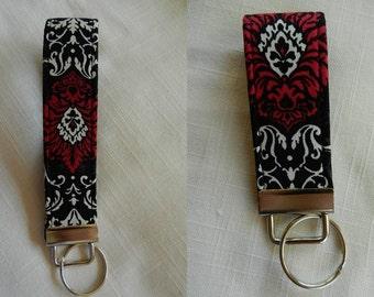 Damask Print  Key fob, Key chain, Wristlet, Camera Strap, Flash drive holder
