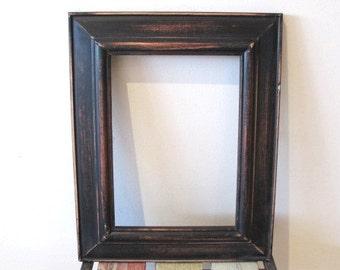 Rustic Photo Frame, Distressed Frame, Wooden Picture Frame, Black 5x7 Photo Frame Shabby chic frame, Wedding frame, Beach decor