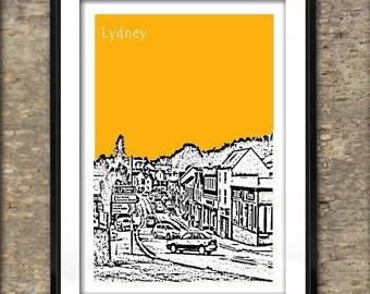 Lydney Art Print Poster A4 Size Gloucester England UK