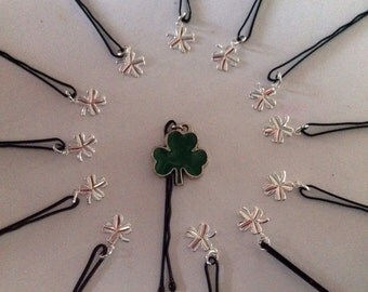 Beard Art Baubles St Patrick's Day Set Hipster Set13 ENAM Mini Pins