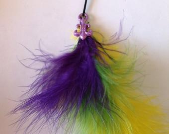 Beard Art Baubles Mardi Gras laissez les bon temps rouler Hipster Set  3 Theme Color Feathers Fleur De Lys