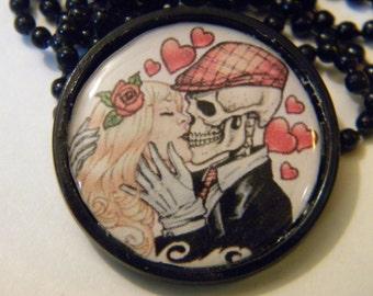 Till Death cameo necklace