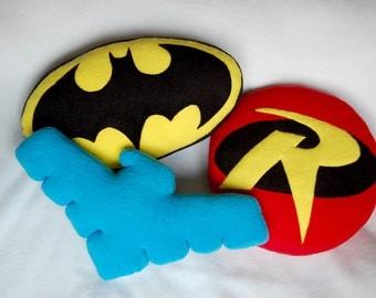Handmade superhero pillows (nightwing and robin on sale)