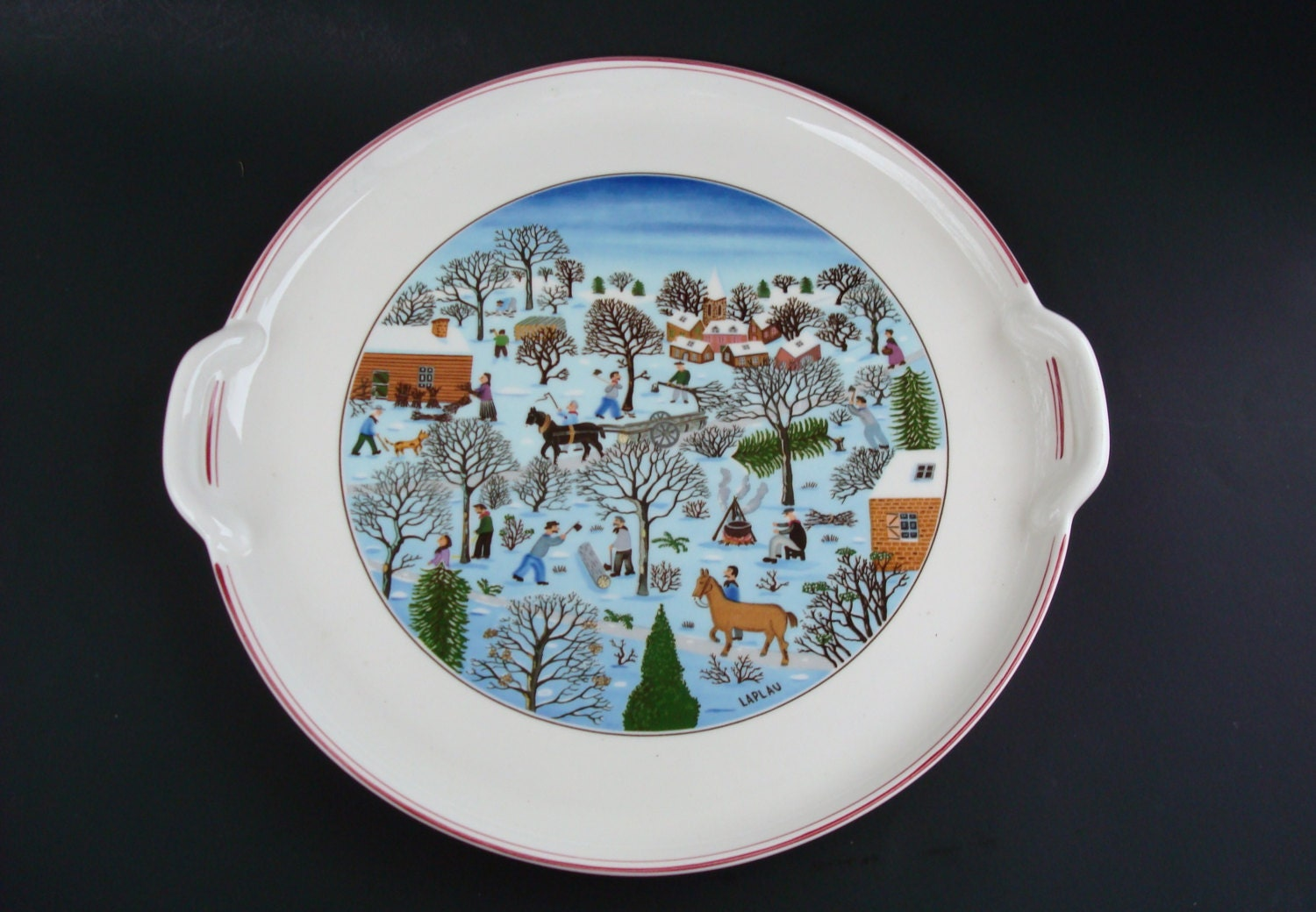 Villeroy boch naif design christmas round by for Villeroy boch christmas