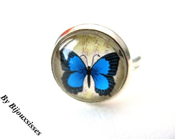 Beautiful Butterfly Ring... VR132 - Adjustable Ring - Vintage Ring - gift under 10