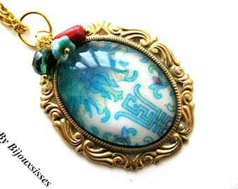The Garden Necklace... VN071 - pendant necklace - charm necklace - gift under 20