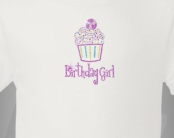 Birthday Girl Cupcake Tshirt