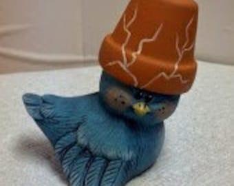 Crack-Pot Ceramic Bird