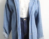 1980s Oversized Streetwear Minimalist Denim Jacket