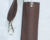 hand made dark brown  e-cigarette  case or pouch.  with belt loop and trigger clip