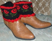 Roses in Winter Boot Cuffs Pattern Pdf