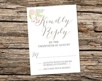 Printable RSVP Card - The Woodland Garden Collection