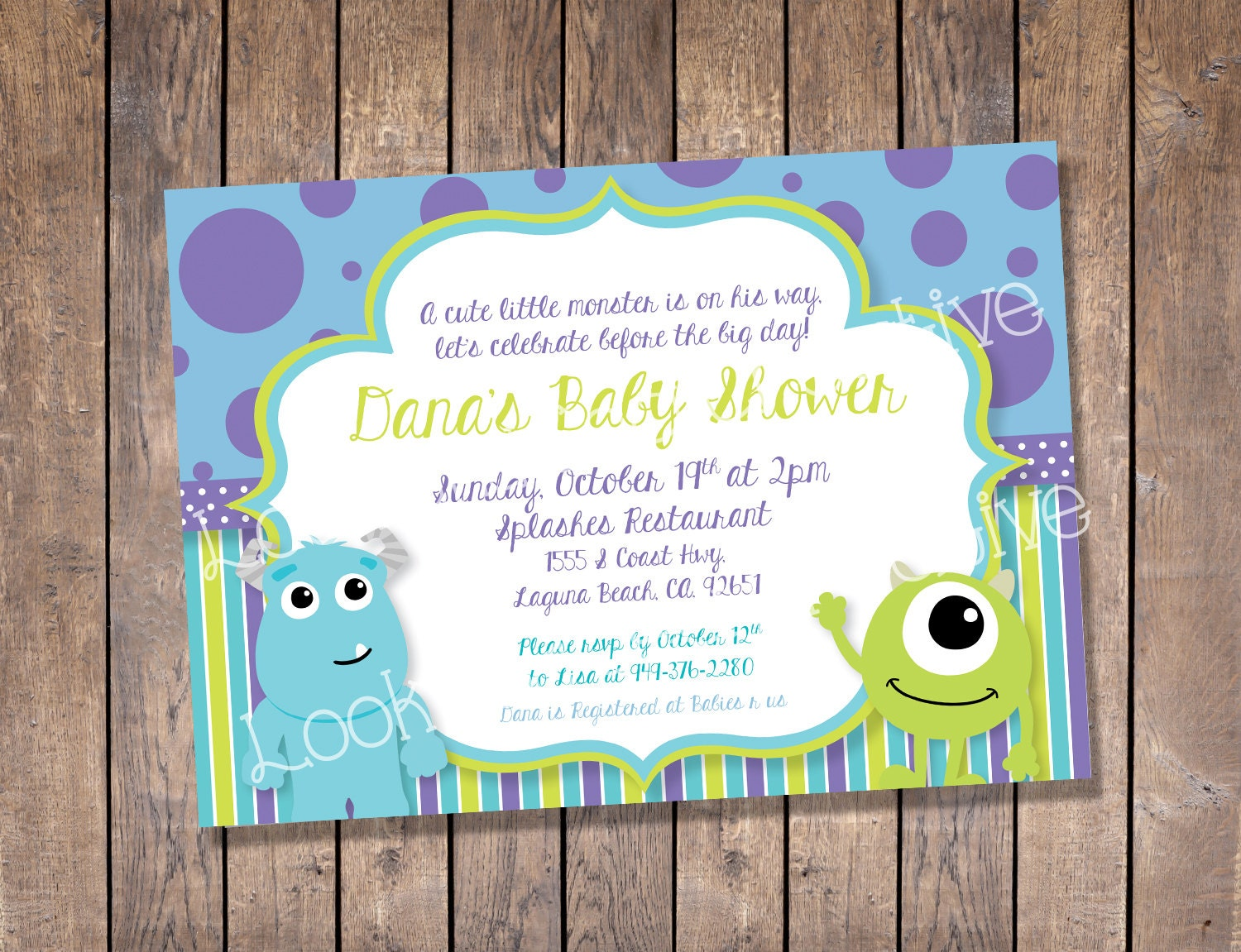 Monster Inc Baby Shower Invitations – gangcraft.net