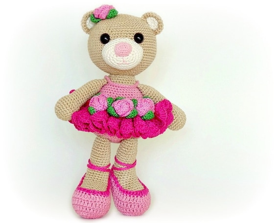 Crochet Ballerina Bear Free Pattern : PATTERN Bibi the Ballerina Bear crochet amigurumi in