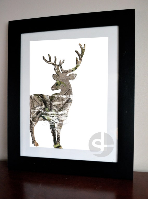 Items similar to camouflage deer art printable wall art for Camouflage wall mural
