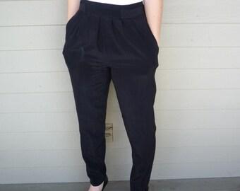 Vintage Counterparts Petites™ Black Harem Pants