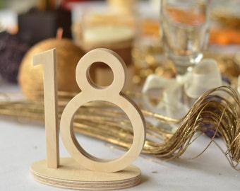 1-20 Wooden Table Numbers Wedding- Gold Table Numbers Wedding-  Silver Table Numbers Wedding- Glitter Table Numbers Wedding