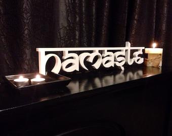 Namaste Sign- Home decor sign , Yoga sign
