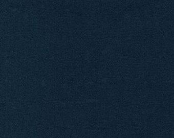 Japanese Sewing Quilting  Fabric - Sashiko Cotton - Linen Blend Fabric - Navy-Indigo