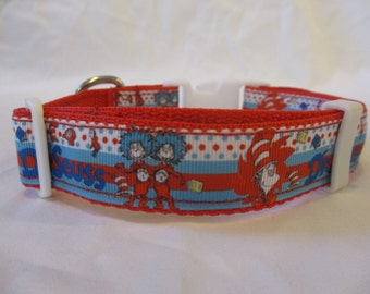 Dr. Seuss Cat in the Hat Dog Collar medium and large
