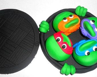 1 Large  Ninja Turtles Cake Toppers