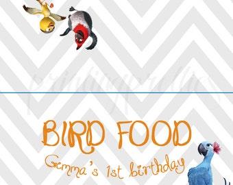 Rio favor bag topper, Rio birthday party favor snack bag