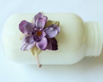 Lavender Flower Baby Headband, Newborn Photo Prop, Baby Photo Prop, Baby Shower GIft, Ready to Ship.